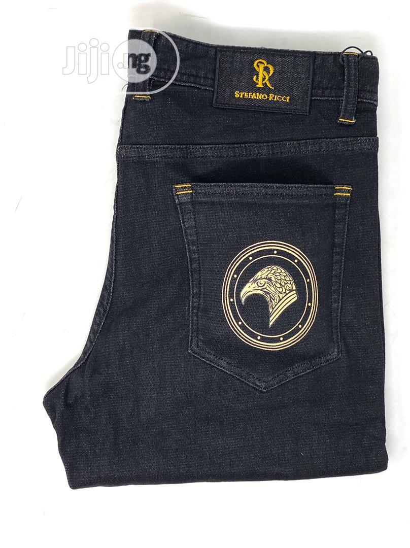 Original Stefaon Ricci Navy Blue Jeans