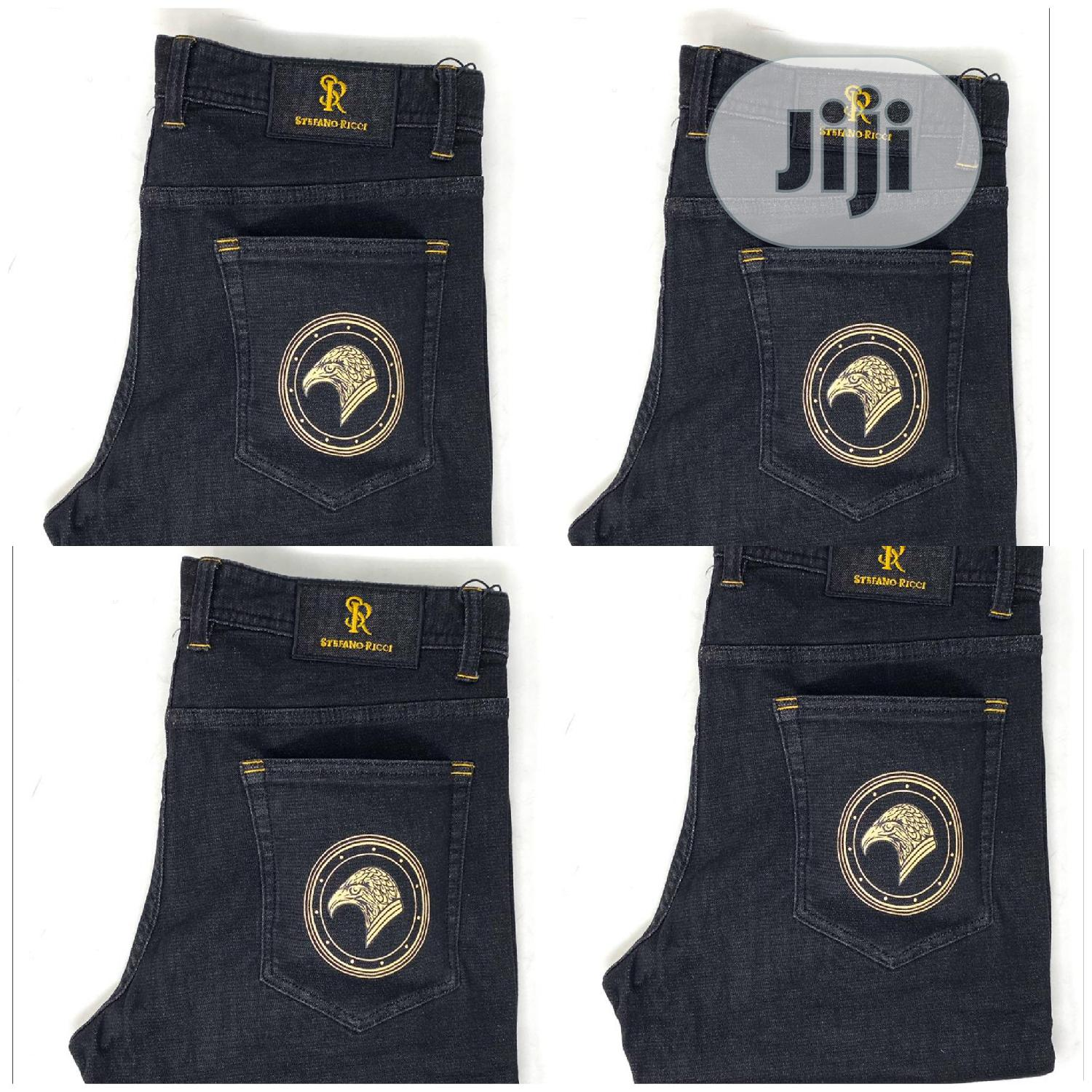 Original Stefaon Ricci Navy Blue Jeans | Clothing for sale in Surulere, Lagos State, Nigeria