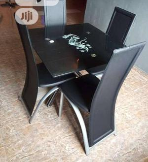 Imported Glass Dinning Table by 4 Chairs | Furniture for sale in Lagos State, Ojo