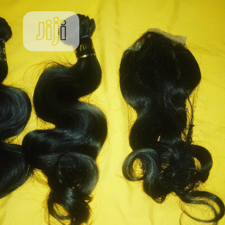 Body Wave Hair 100% Human Hair Three Bundles and Closure