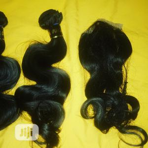 Body Wave Hair 100% Human Hair Three Bundles and Closure | Hair Beauty for sale in Abuja (FCT) State, Apo District