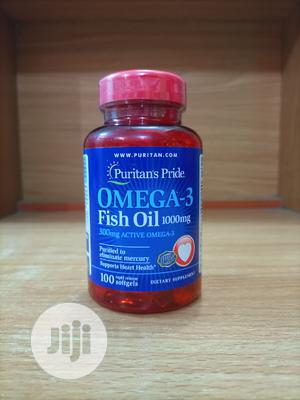 Puritan Pride Omega 3 Fish Oil 1000MG X 100 | Vitamins & Supplements for sale in Lagos State, Surulere