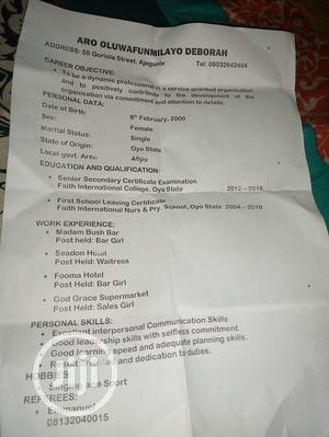 Retail CV | Retail CVs for sale in Lagos State, Ajah