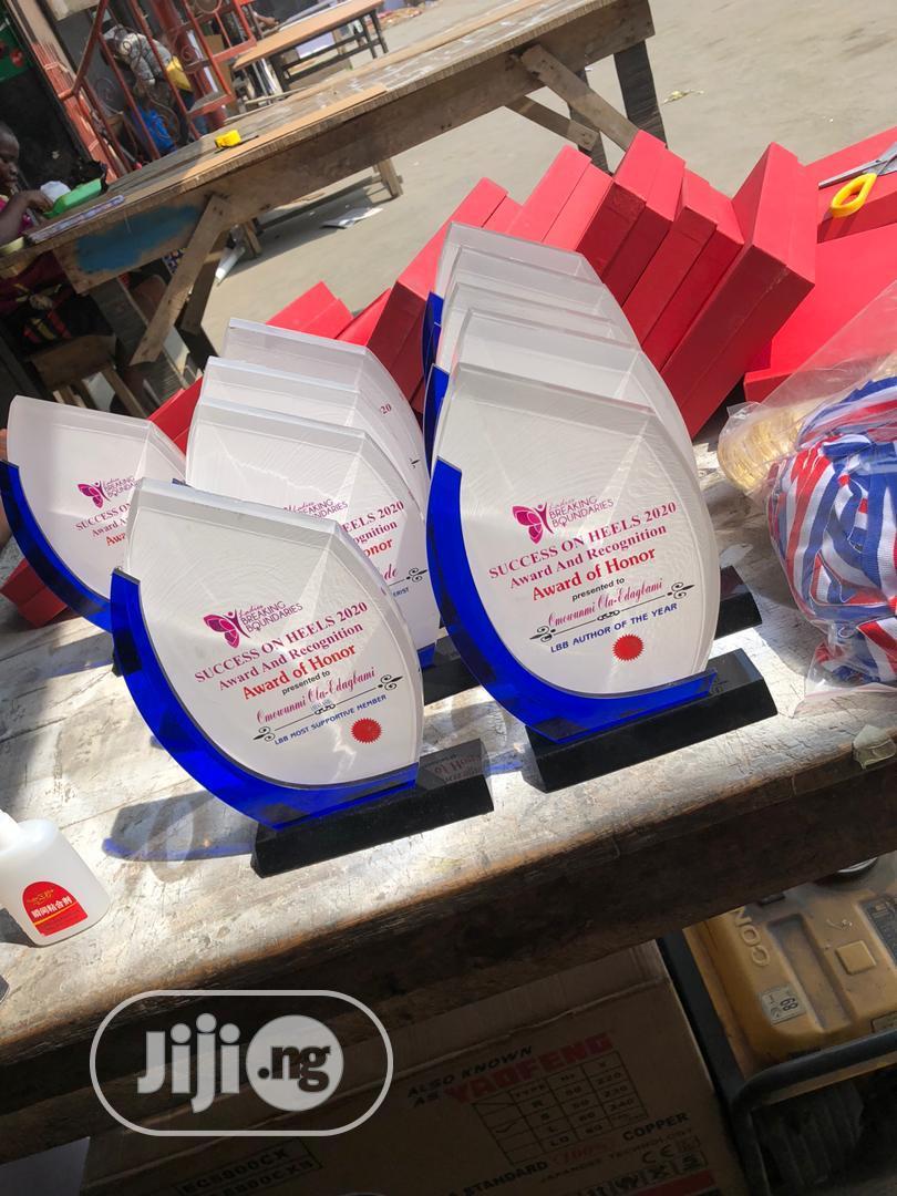 Archive: Acrylic Award With Blue Finish