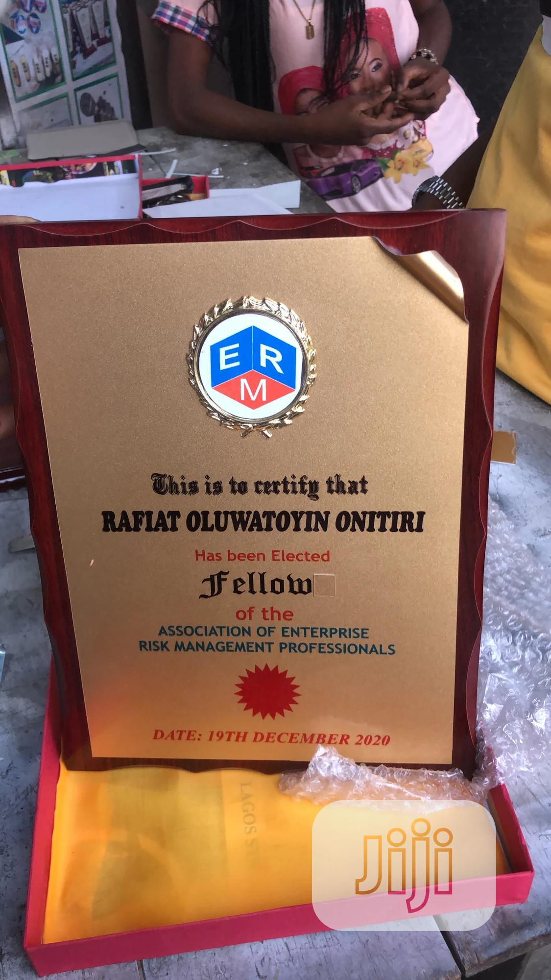 Archive: Wooden Plaque Award