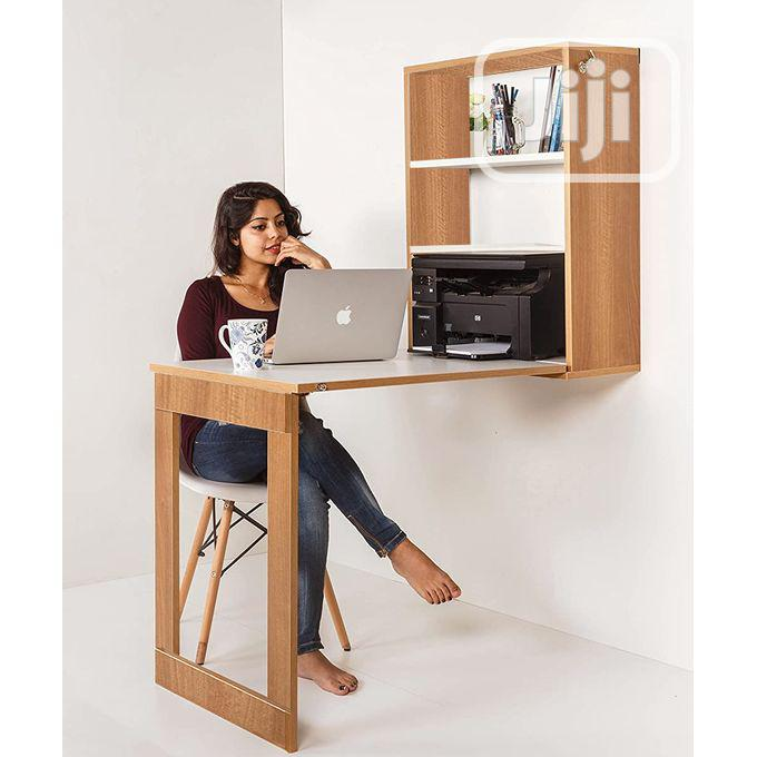 Foldable Wall Mounted Dining Table Storage Study Cabinet