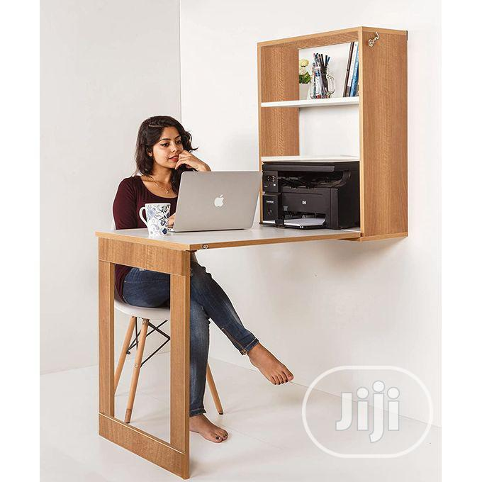 Laptop Dining Table Foldable Wall Mounted Storage Cabinet
