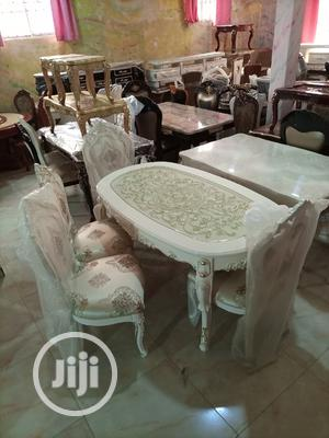Royal Cream Wooden Dinning Table With Six Chairs | Furniture for sale in Lagos State, Ajah