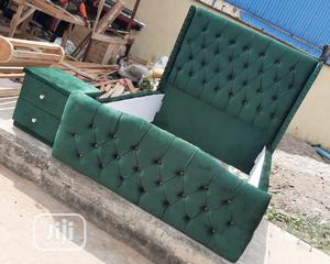 6by4.1/2 Bed Frame With Side Drawer   Furniture for sale in Lagos State, Ojo