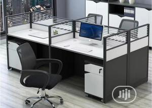 6people Grey and White Workstation   Furniture for sale in Lagos State, Victoria Island