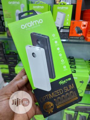 Oraimo 10000mah Digital Ultra Slim Power Bank - White | Accessories for Mobile Phones & Tablets for sale in Lagos State, Ikeja