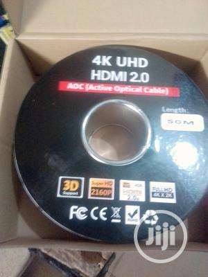 50meters 8K Uhd HDMI TO HDMI 2.0 Aoc Active Optical Cable | Accessories & Supplies for Electronics for sale in Lagos State, Ojo