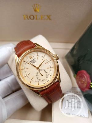 Rolex Gold Leather Strap Watch | Watches for sale in Lagos State, Lagos Island (Eko)