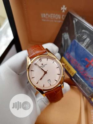 Vacheron Constantin Flat Rose Gold Leather Strap Watch   Watches for sale in Lagos State, Lagos Island (Eko)