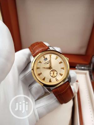 Longines Gold/Silver Leather Strap Watch | Watches for sale in Lagos State, Lagos Island (Eko)