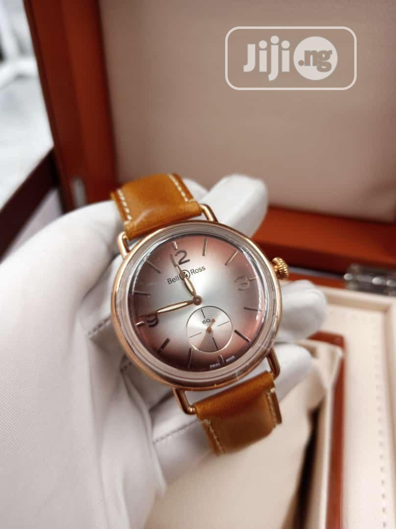 Bell Rose Leather Rose Gold Watch