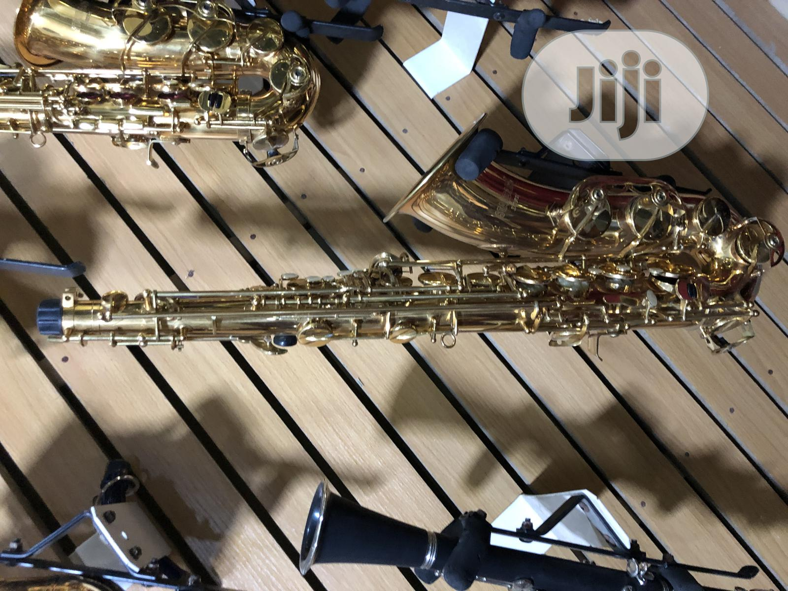 Alto Saxophone With Accessories Available in Gold and Silver | Musical Instruments & Gear for sale in Ojo, Lagos State, Nigeria