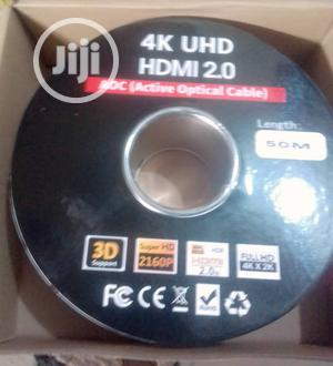 50meter 4K UHD Hdmi 2.0 Adc(Active Optical Cable) | Accessories & Supplies for Electronics for sale in Lagos State, Ojo