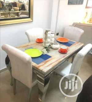 Classy Marble Dinning Table by 4 Chairs. | Furniture for sale in Lagos State, Ikeja