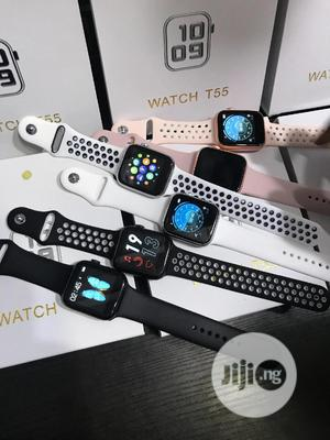 T55 Series 6 Smartwatch With Extra Straps   Smart Watches & Trackers for sale in Lagos State, Ikeja