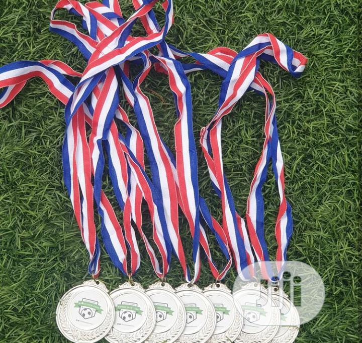 Silver Award Medal With Printing