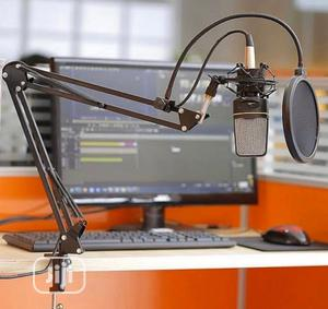 Complete Studio Set Stand Mic ,Pop Filter,And Studio Mic   Audio & Music Equipment for sale in Lagos State, Ojo