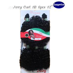 Jerry Curl Head Wig 12 Inch 6 Pcs 240g | Hair Beauty for sale in Abuja (FCT) State, Central Business District