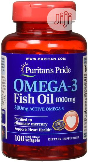 Puritan Omega-3 Fish Oil 1000mg X100 | Vitamins & Supplements for sale in Lagos State, Alimosho