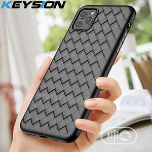 Woven Leather Silicone Case for iPhone 12 Pro Max   Accessories for Mobile Phones & Tablets for sale in Lagos State, Ikeja
