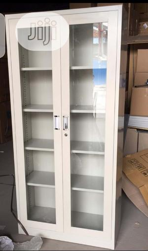 Metal And Glass Filing Cabinet | Furniture for sale in Lagos State, Lagos Island (Eko)