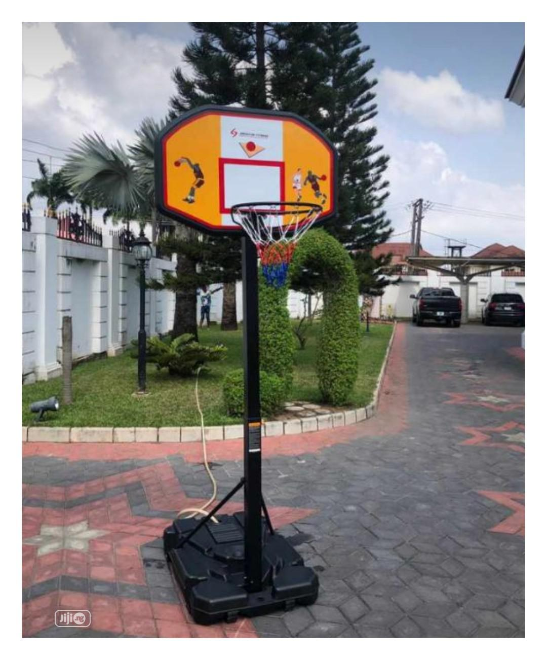 Archive: Basketball Stand With Ruber