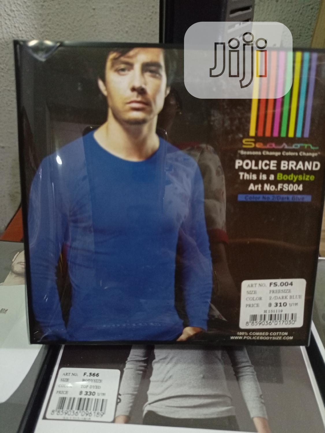 Police FS004 Medium Size Long Sleeve T Shirt   Clothing for sale in Surulere, Lagos State, Nigeria