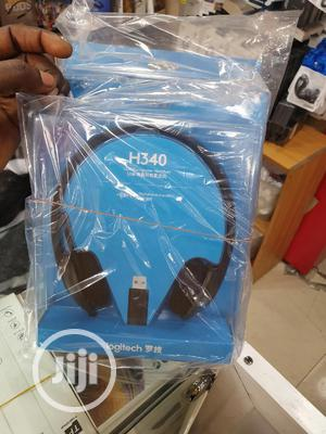 Logitech H340 Usb Headset With Noise-cancelling Mic   Headphones for sale in Lagos State, Ikeja