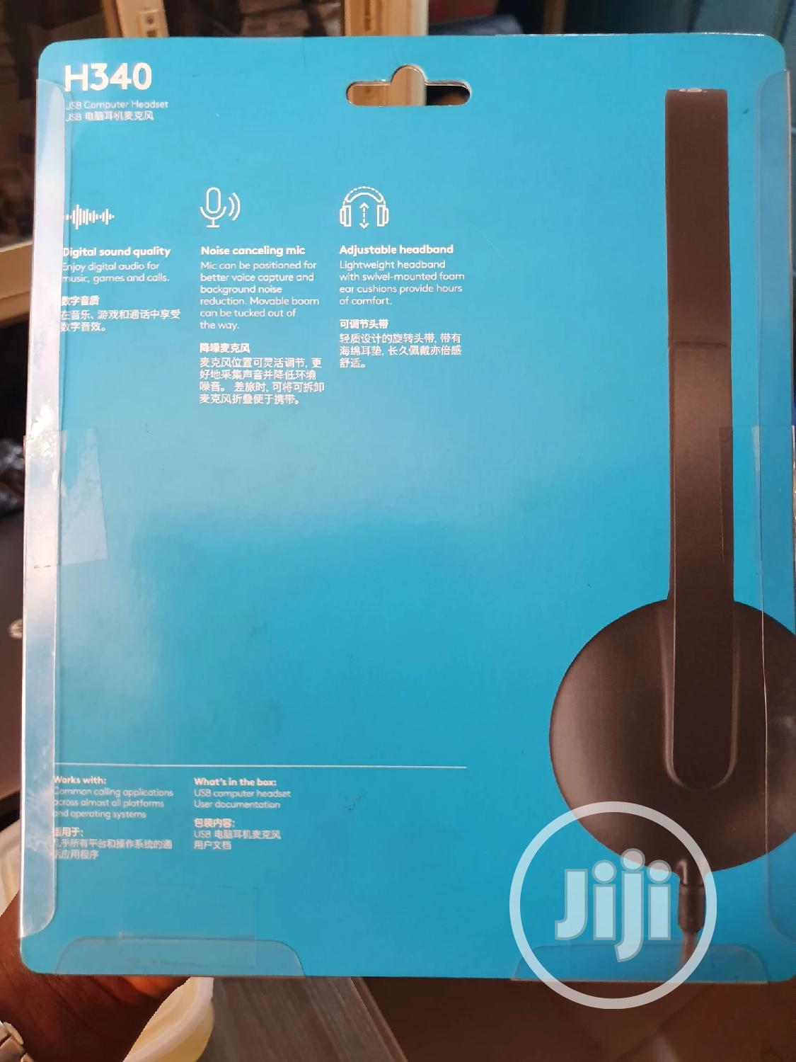 Logitech H340 Usb Headset With Noise-cancelling Mic   Headphones for sale in Ikeja, Lagos State, Nigeria