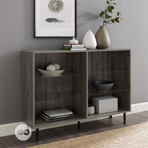 Modern Bookcase With Glass Shelving   Furniture for sale in Lagos State, Ikeja