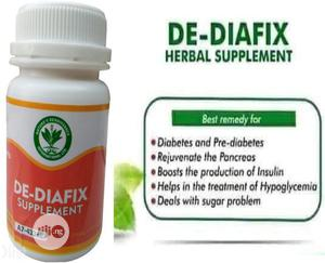 Diabetes Herbal Caps: NRI DE - DIAFIX 60 Caps   Vitamins & Supplements for sale in Lagos State, Abule Egba