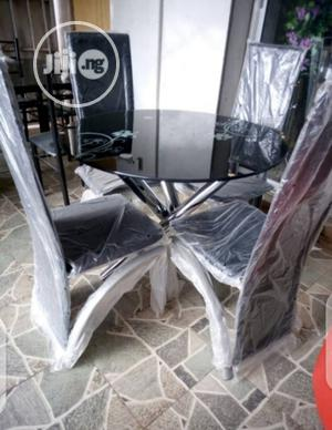 Round Glass Dinning Table by 4 Chairs | Furniture for sale in Lagos State, Ojo