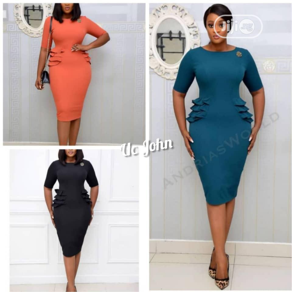 Ladies Fitted Short Gown | Clothing for sale in Ikeja, Lagos State, Nigeria