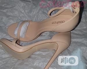 BOOHOO Nude Platform Heeled Sandals | Shoes for sale in Lagos State, Ajah