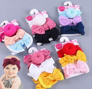 3pcs Baby Turban Headband | Children's Clothing for sale in Lagos State, Ikoyi