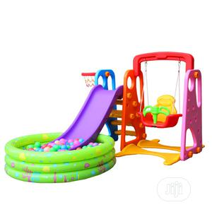 Kids 4 in 1indoor Swing, Slide, Basketball and Ball Pool Set | Toys for sale in Abuja (FCT) State, Gwarinpa