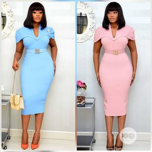 Quality Ladies Fitted Vneck Gown | Clothing for sale in Lagos State, Ikeja