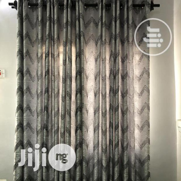 Gray and Silver Curtain With Ring Holes | Home Accessories for sale in Oshimili North, Delta State, Nigeria