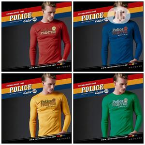 Police Bc013 Large Size Long Sleeve T-Shirt | Clothing for sale in Lagos State, Surulere