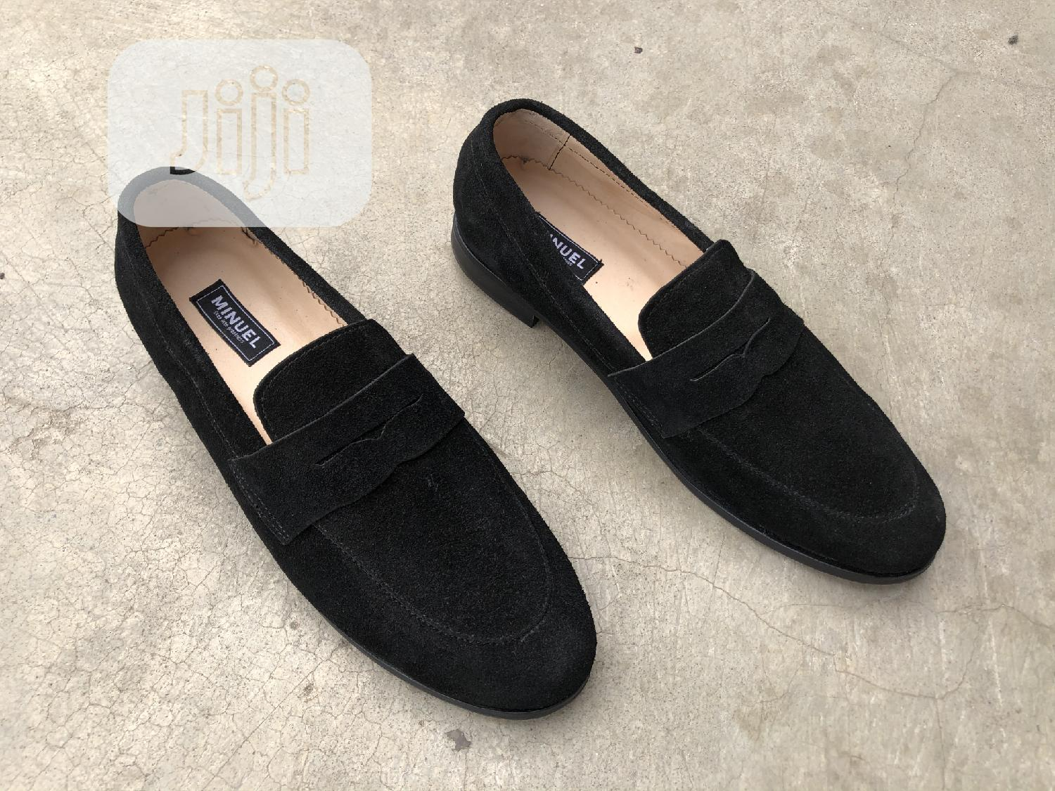 Blavk Suede Penny Loafers   Shoes for sale in Mushin, Lagos State, Nigeria