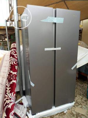 Brand New HISENSE Side by Side Fridge (REF67WSI)516L, Silver   Kitchen Appliances for sale in Lagos State, Ojo