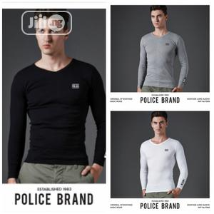 Police F569 Medium Size Long Sleeve T-Shirt | Clothing for sale in Lagos State, Surulere