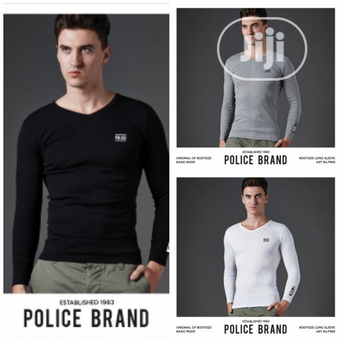 Police F569 Medium Size Long Sleeve T-Shirt