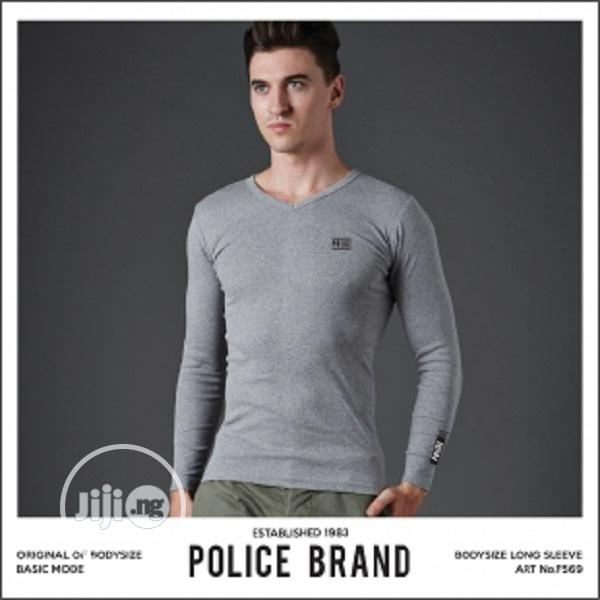 Police F569 Medium Size Long Sleeve T-Shirt | Clothing for sale in Surulere, Lagos State, Nigeria