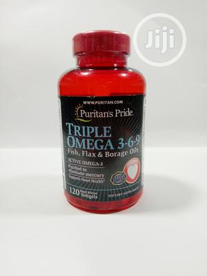 Puritan's Pride Triple Omega 3-6-9 BY 120 Soft Gels   Vitamins & Supplements for sale in Lagos State, Ikeja